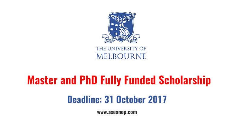 University of Melbourne Master Degree and PhD Scholarship in Australia (Fully Funded)