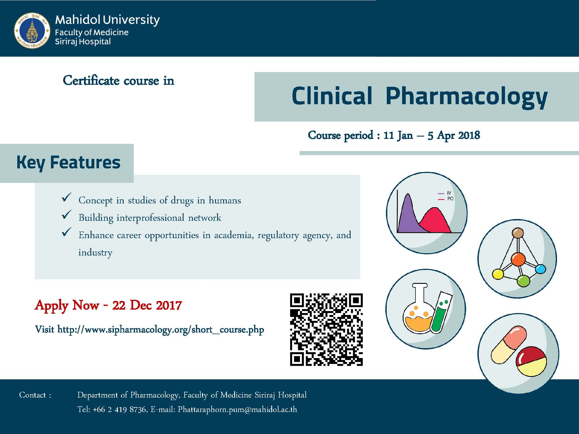 Call for Application for Certificate in Clinical Pharmacology