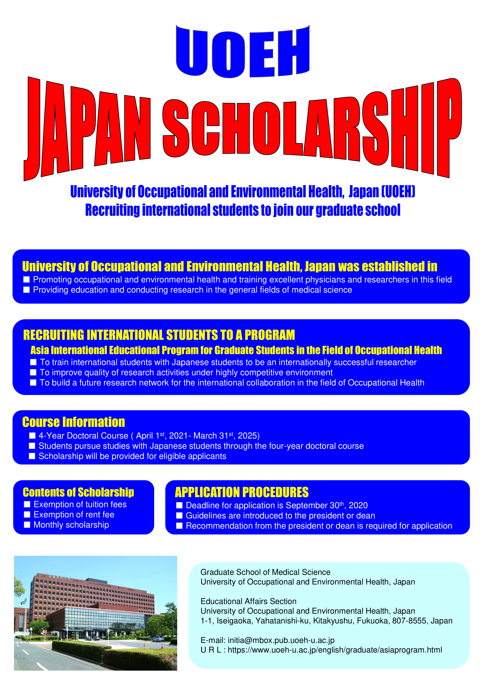 Asia International Educational Program for Graduate Students in the field of Occupational Health 2021