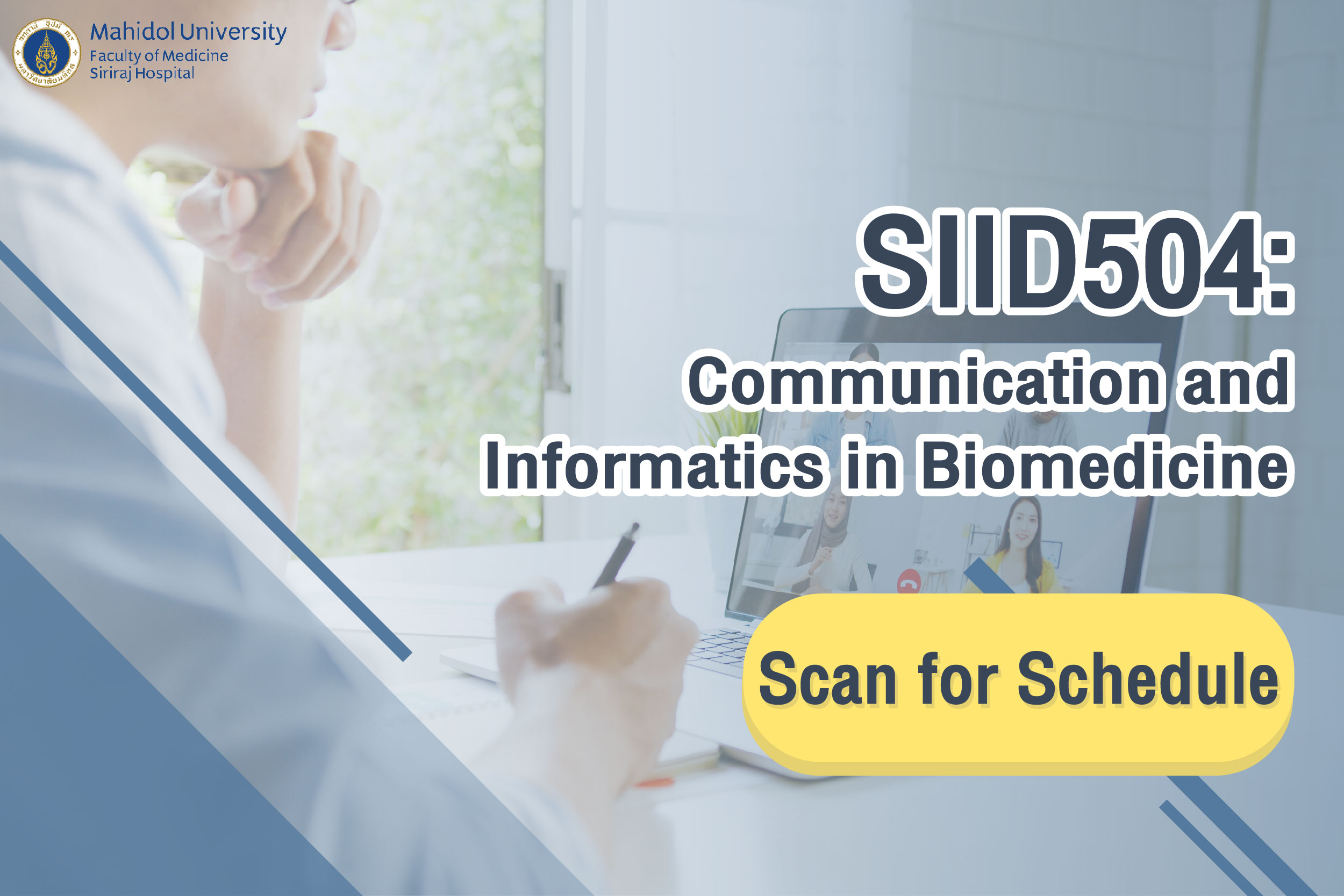 REGISTER!!! COURSE SIID504: Communication and Informatics in Biomedicine
