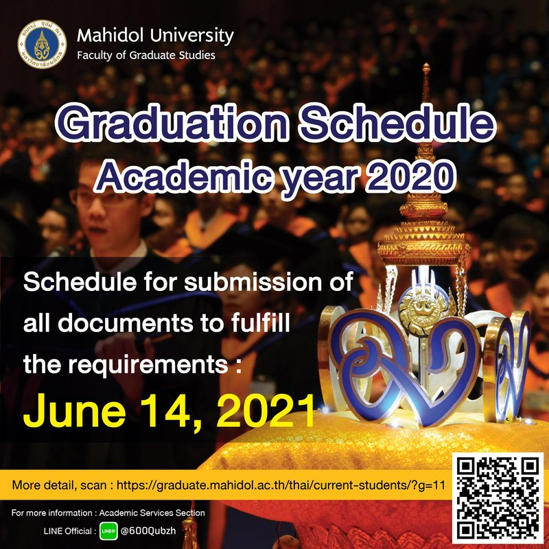 Schedule for submission of all documents to fulfill the requirements 2020