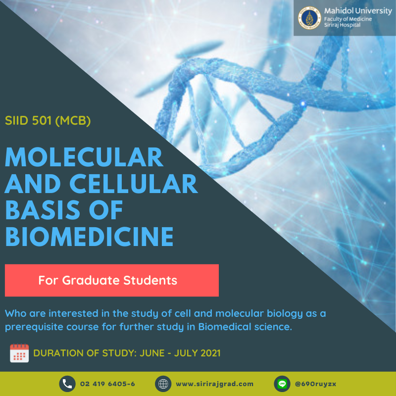 SIID501 MOLECULAR AND CELLULAR BASIS OF BIOMEDICINE APPLICATIONS NOW!!